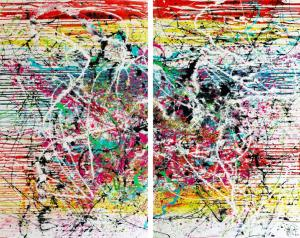 Colors of the world 160 cm x 200 cm - Diptyque -